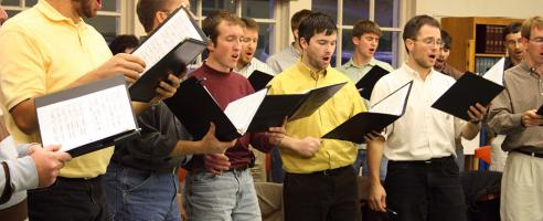 men singing in heart and voice vocal workshop